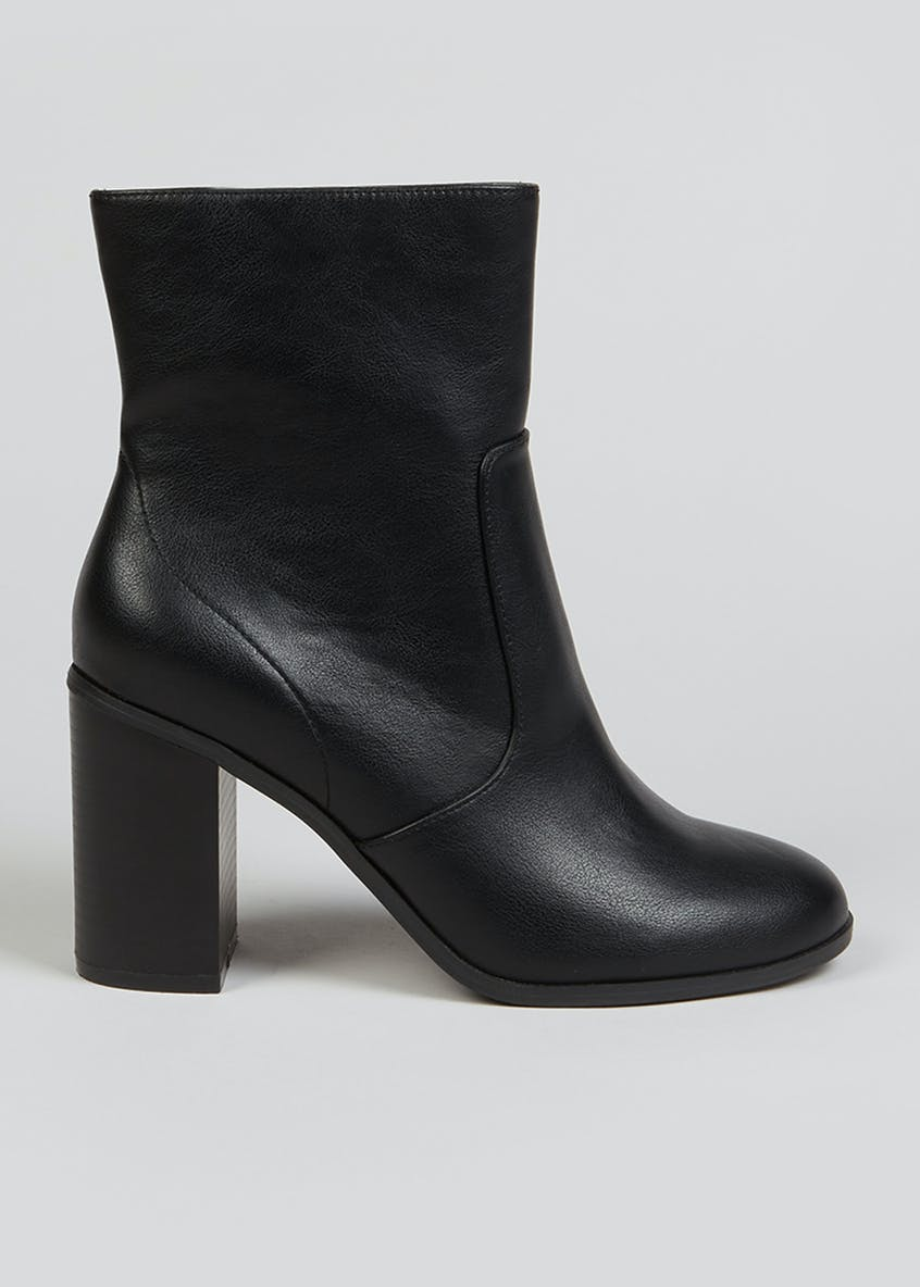High Block Heel Ankle Boots