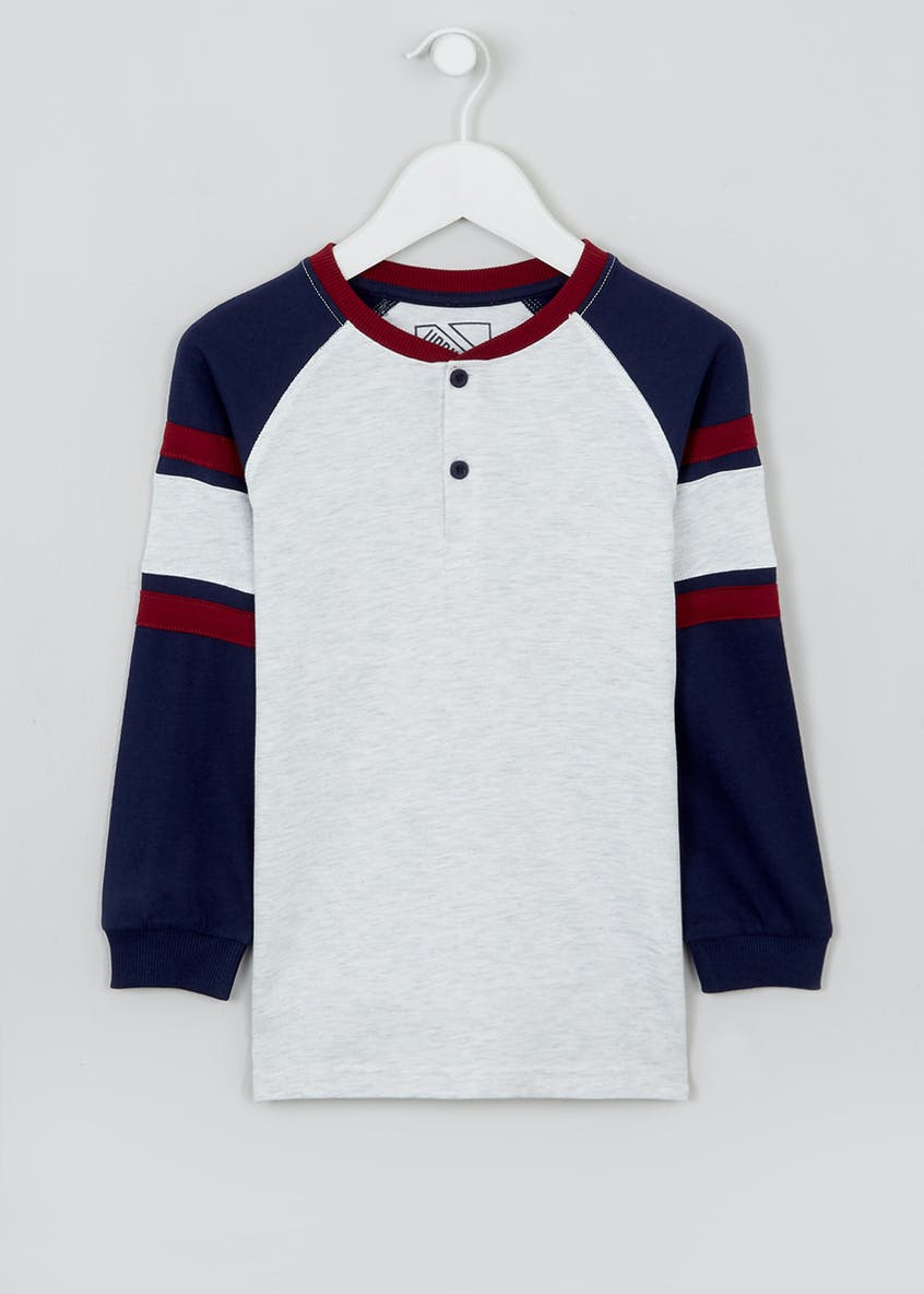 Boys Contrast Henley Top (4-13yrs)