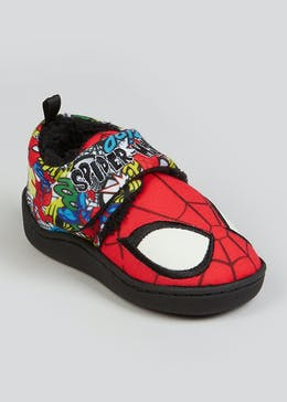 Kids Red Spider-Man Co-ord Slippers (Younger 4-12)