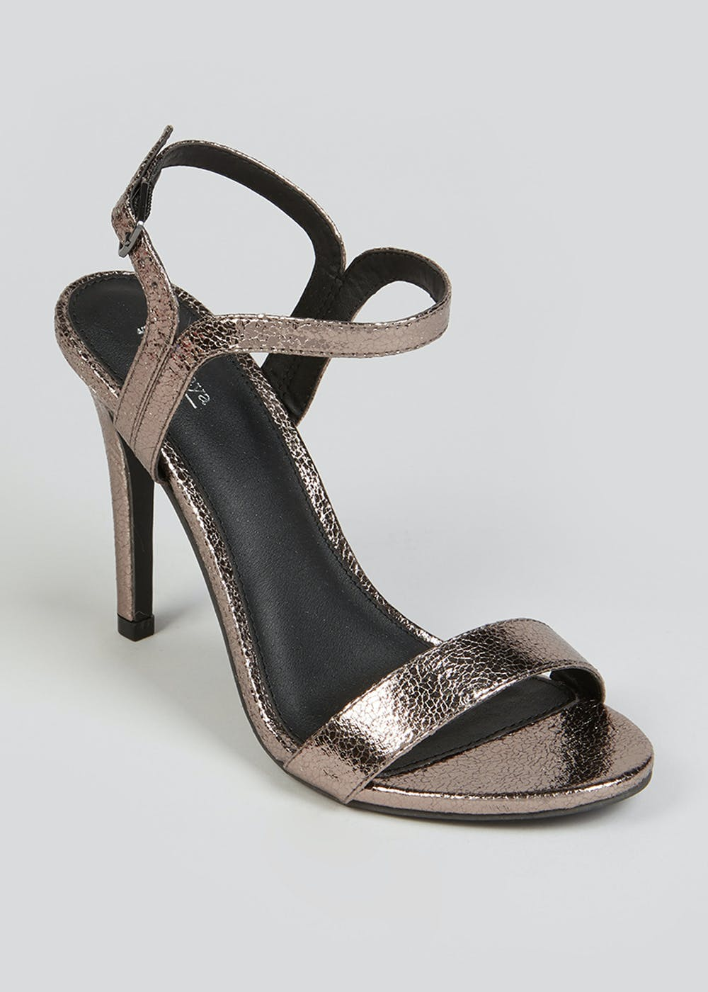 Metallic Strappy High Heeled Sandals by Matalan