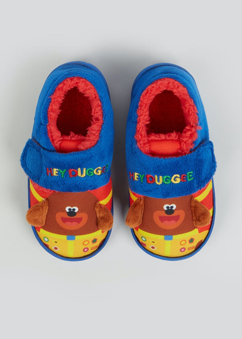 Kids Blue Hey Duggee Slippers (Younger 4-12)