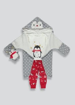 Kids 3 Piece Penguin Pyjama Set (9mths-5yrs)