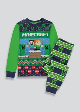 Kids Minecraft Christmas Pyjama Set (6-12yrs)