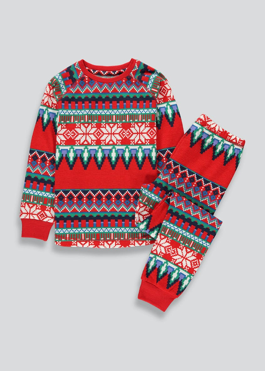 Kids Fair Isle Pyjama Set (2-13yrs)
