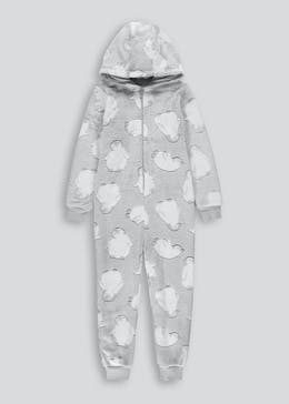 Kids Penguin Print Onesie (2-13yrs)