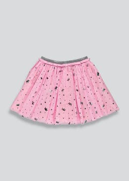 Girls Crown Print Tutu Skirt (9mths-6yrs)