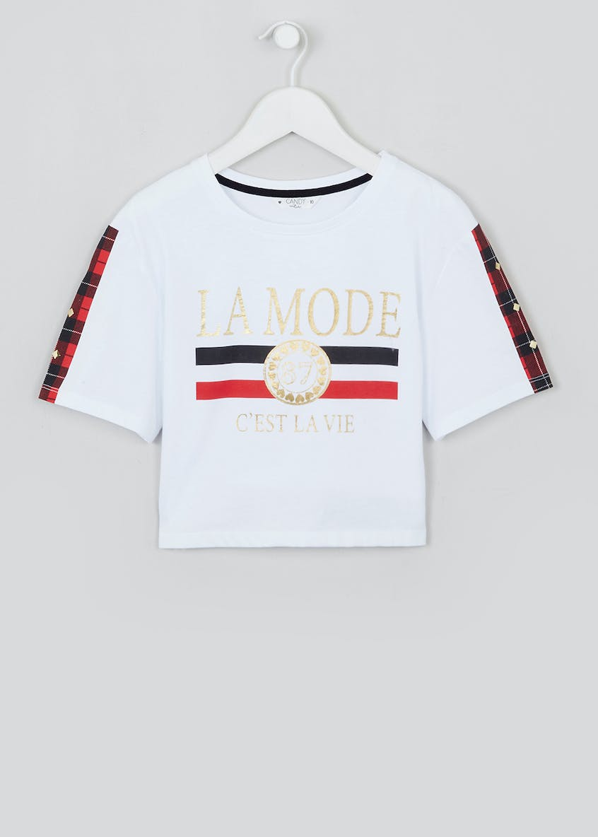 Girls Candy Couture Cropped La Mode T-Shirt (9-16yrs)