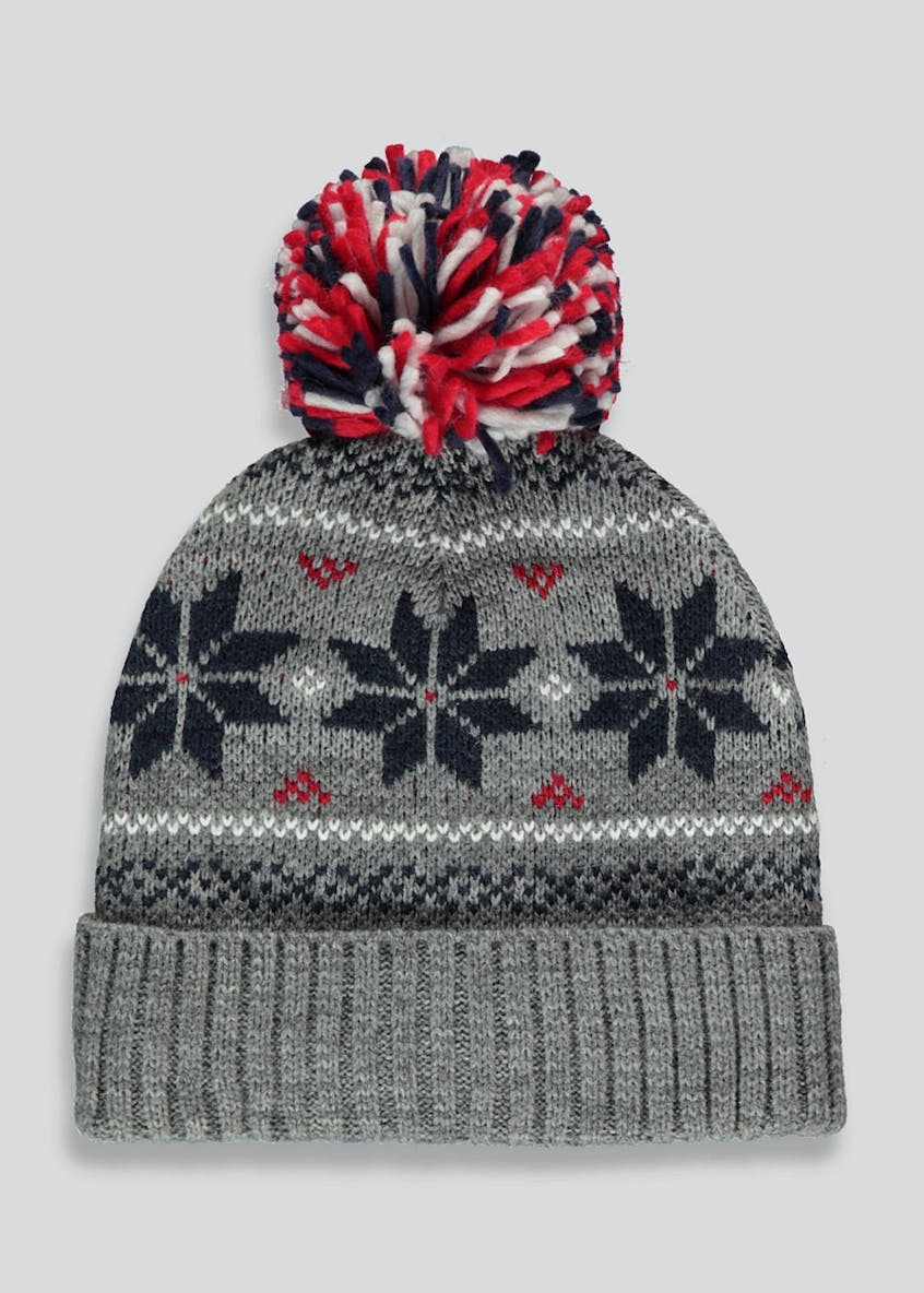 Fair Isle Bobble Hat