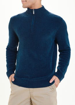 Lincoln Chenille Half Zip Jumper