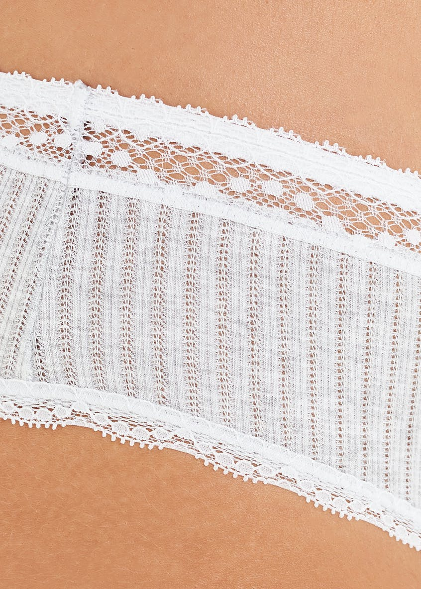 Ribbed Lace Knickers