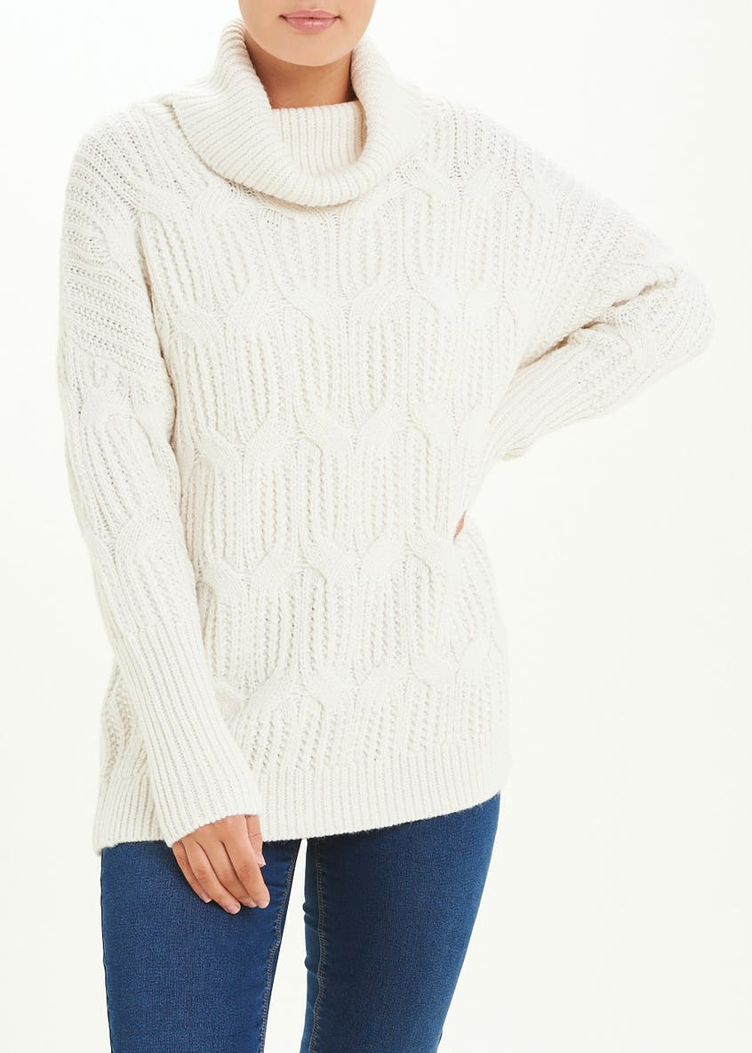 Chunky Roll Neck Cable Jumper