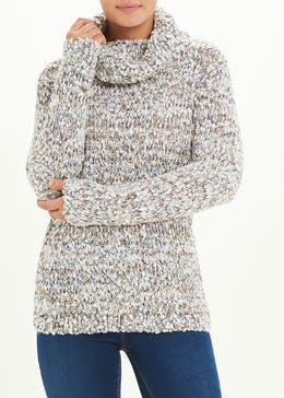Relaxed Cowl Neck Jumper