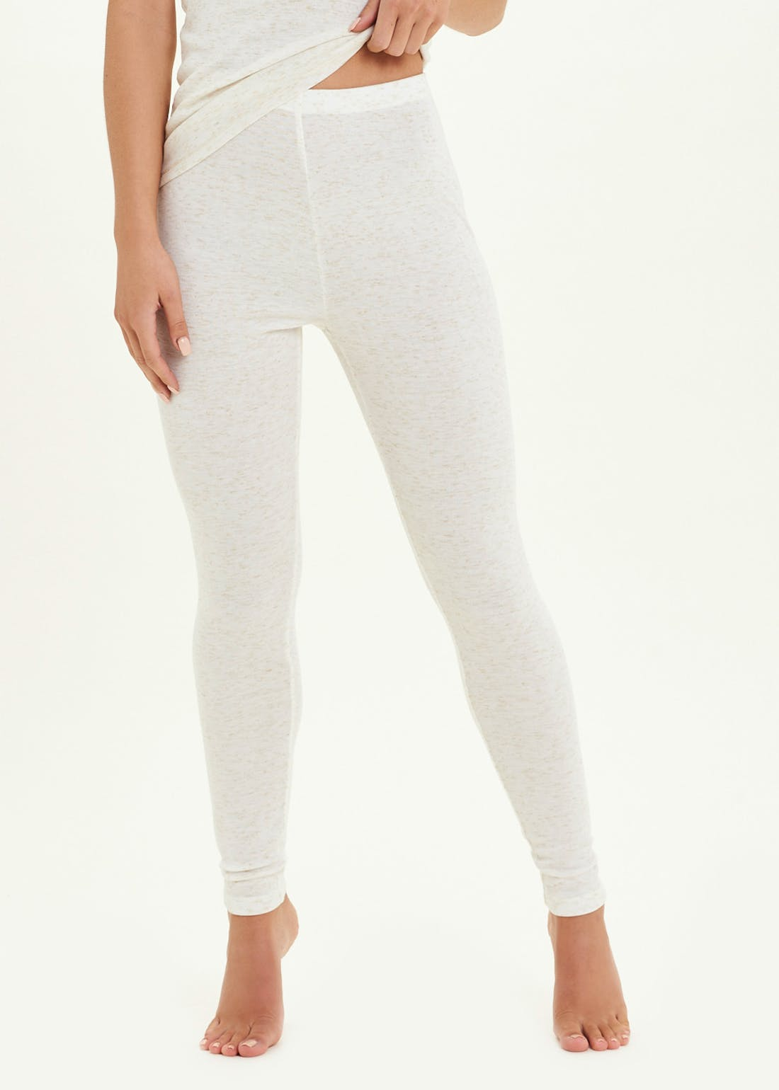 Sparkle Trim Thermal Leggings