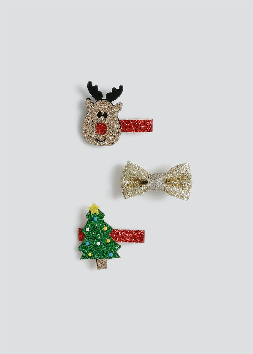 Girls Christmas Bow Pack
