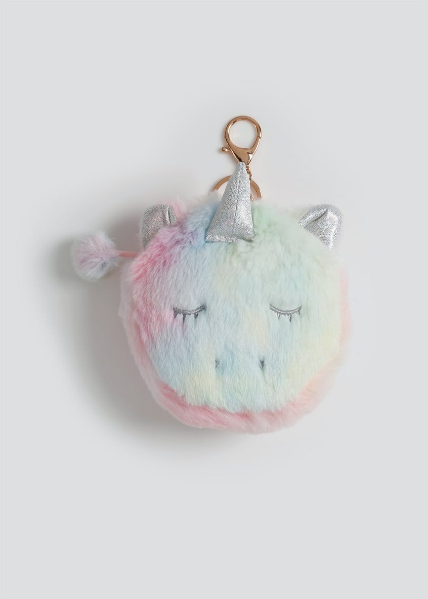 Girls Fluffy Unicorn Purse