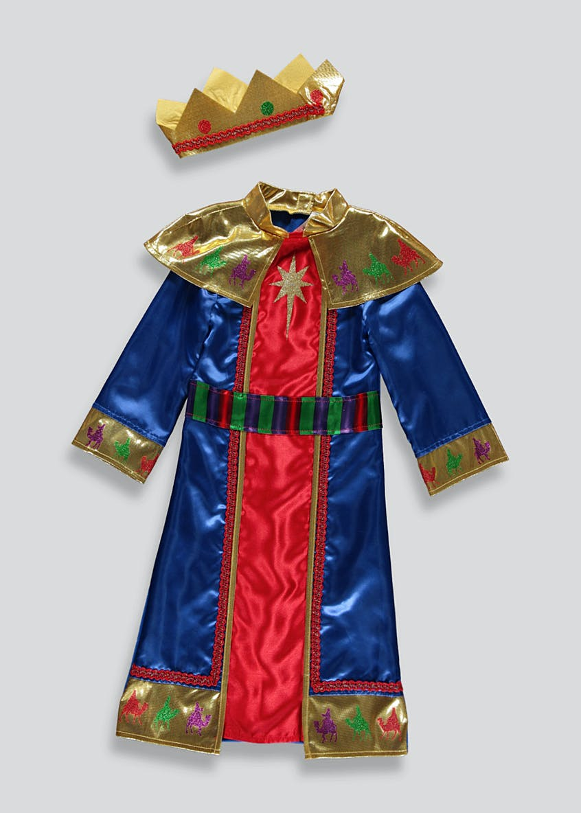 Kids King Nativity Fancy Dress Costume (3-9yrs)