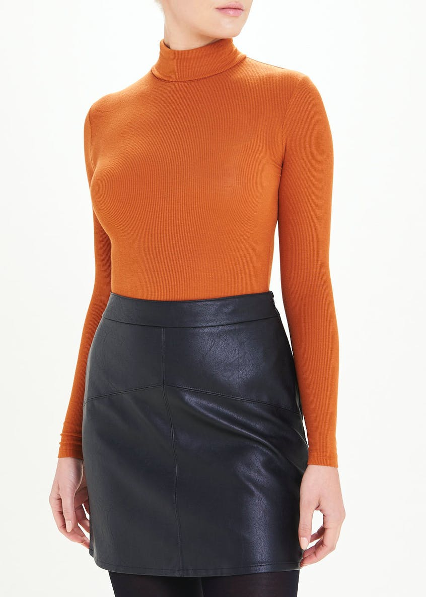 Roll Neck Jersey Top