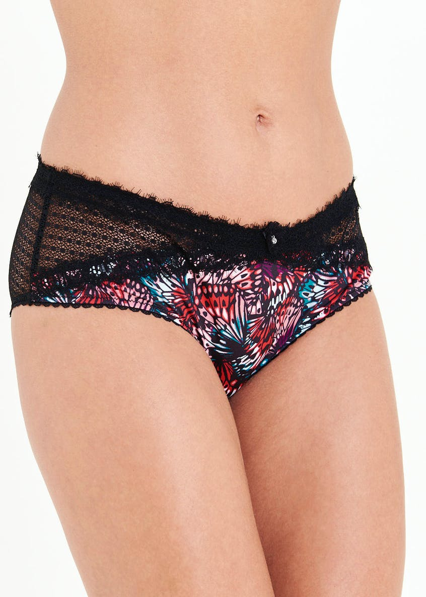 Butterfly Print Lace Knickers