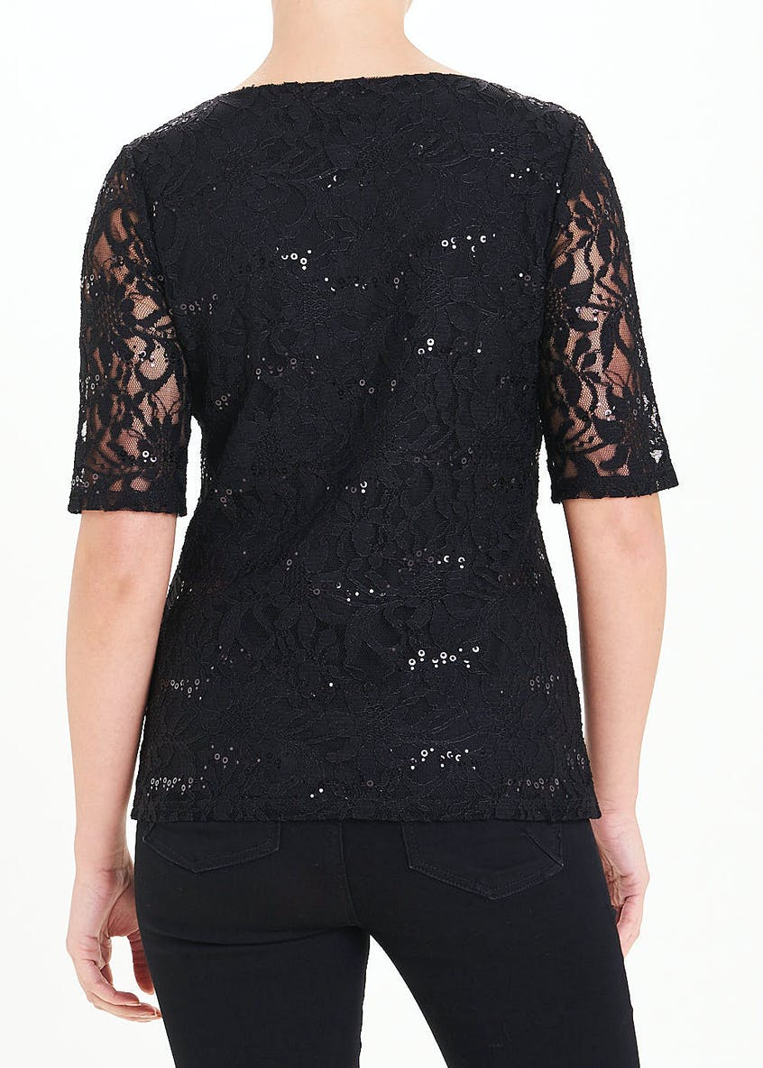 Sequin Lace Top