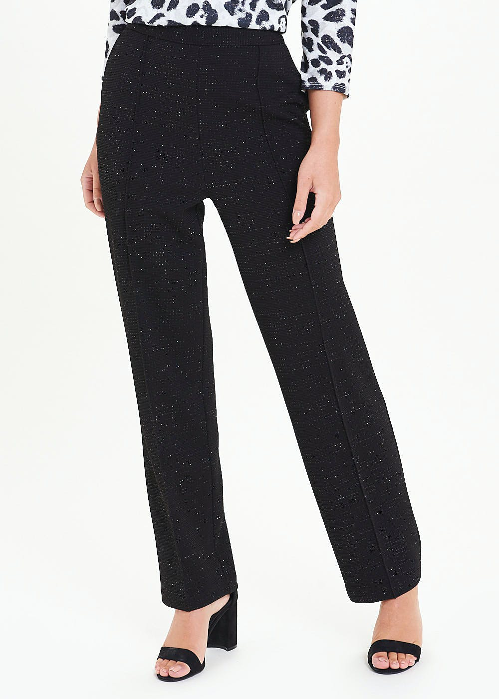Sparkle Pleat Front Trousers by Matalan