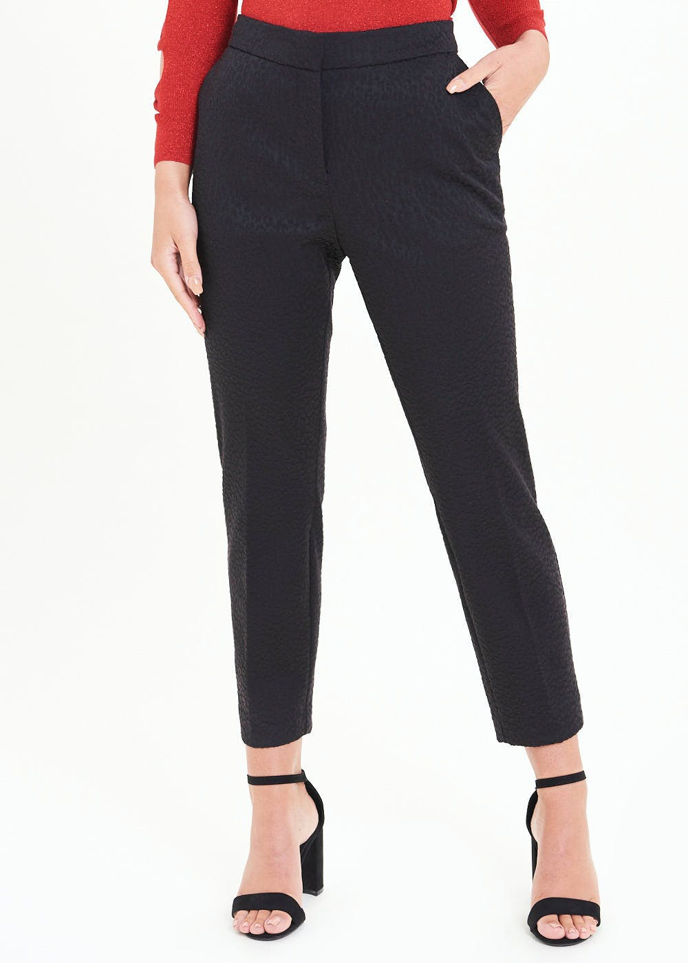 Soon Leopard Jacquard Tailored Trousers by Matalan