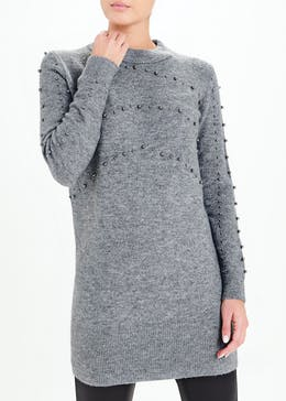 Embellished Tunic Jumper