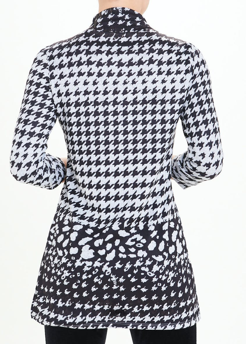 Funnel Neck Dogtooth Longline Top