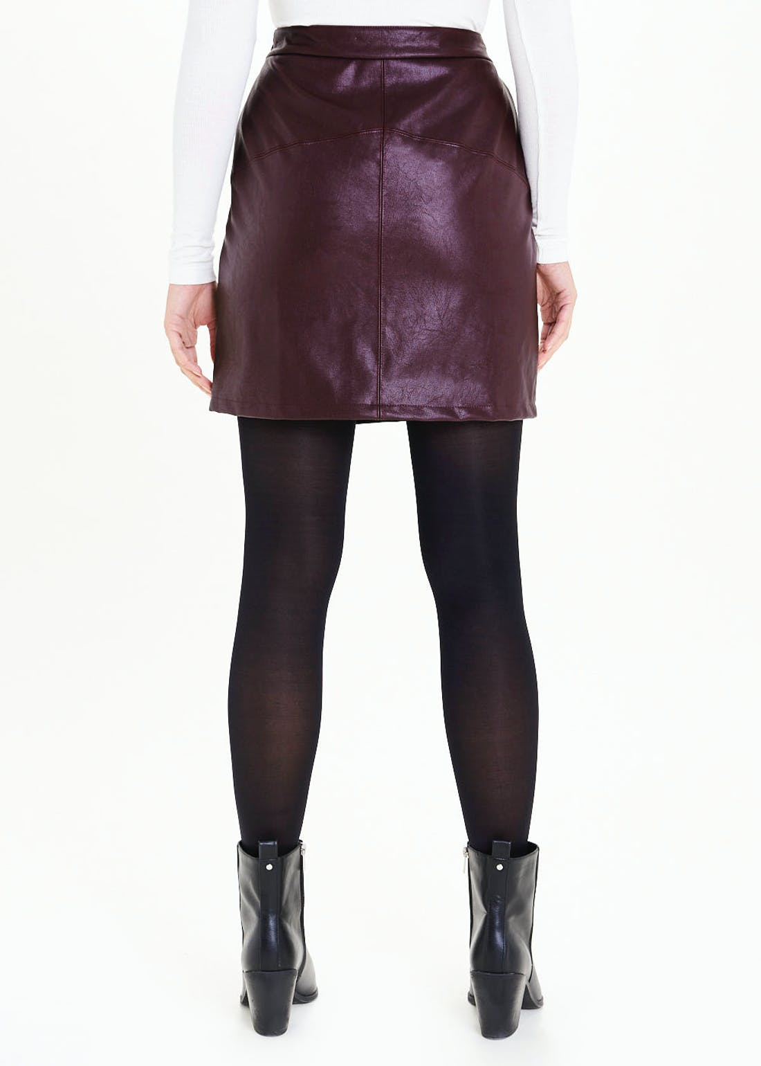 PU Leather Look Mini Skirt