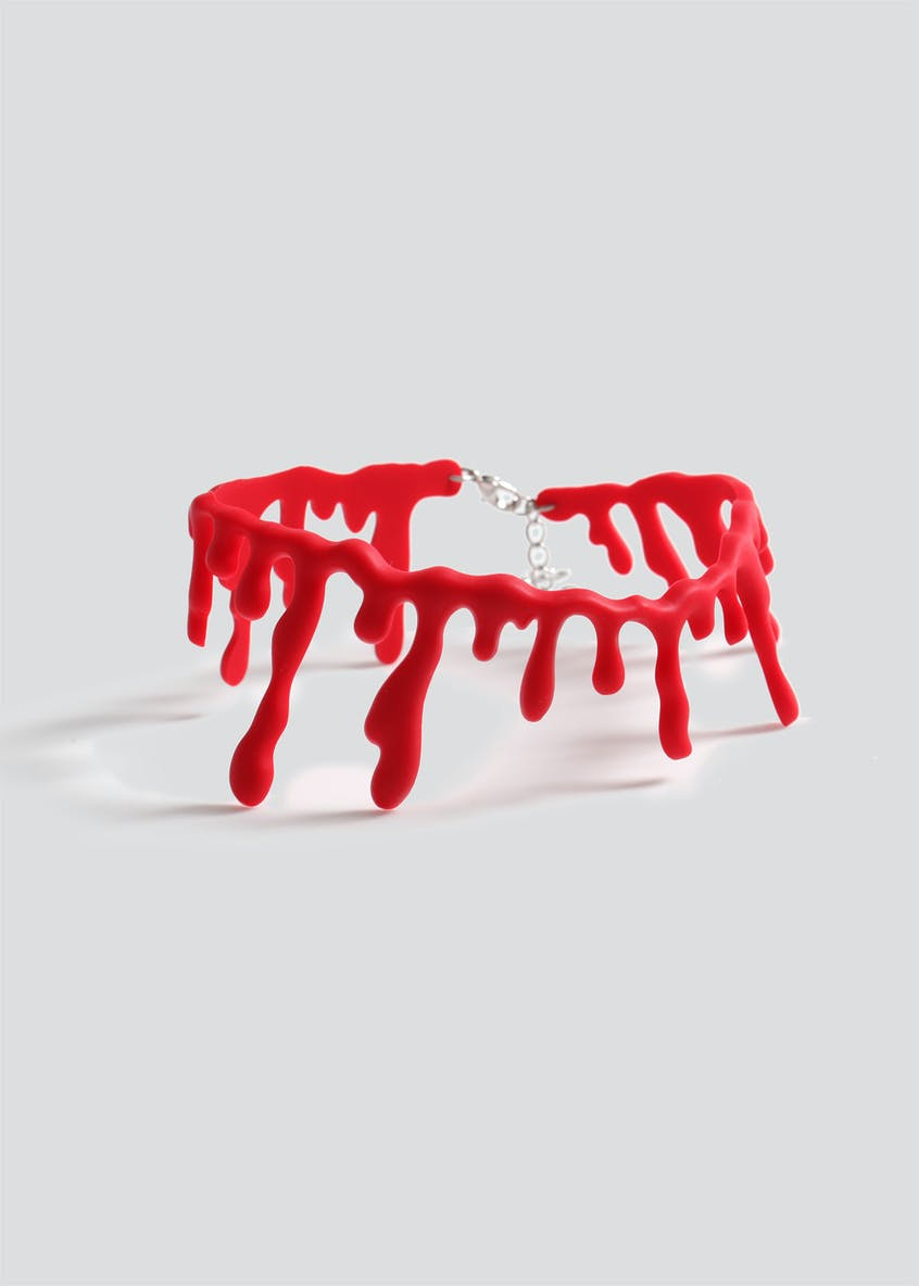 Girls Halloween Blood Drip Choker