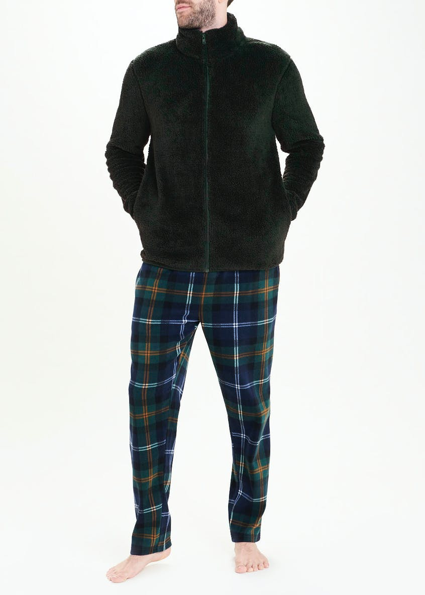 Checked Microfleece Lounge Bottoms