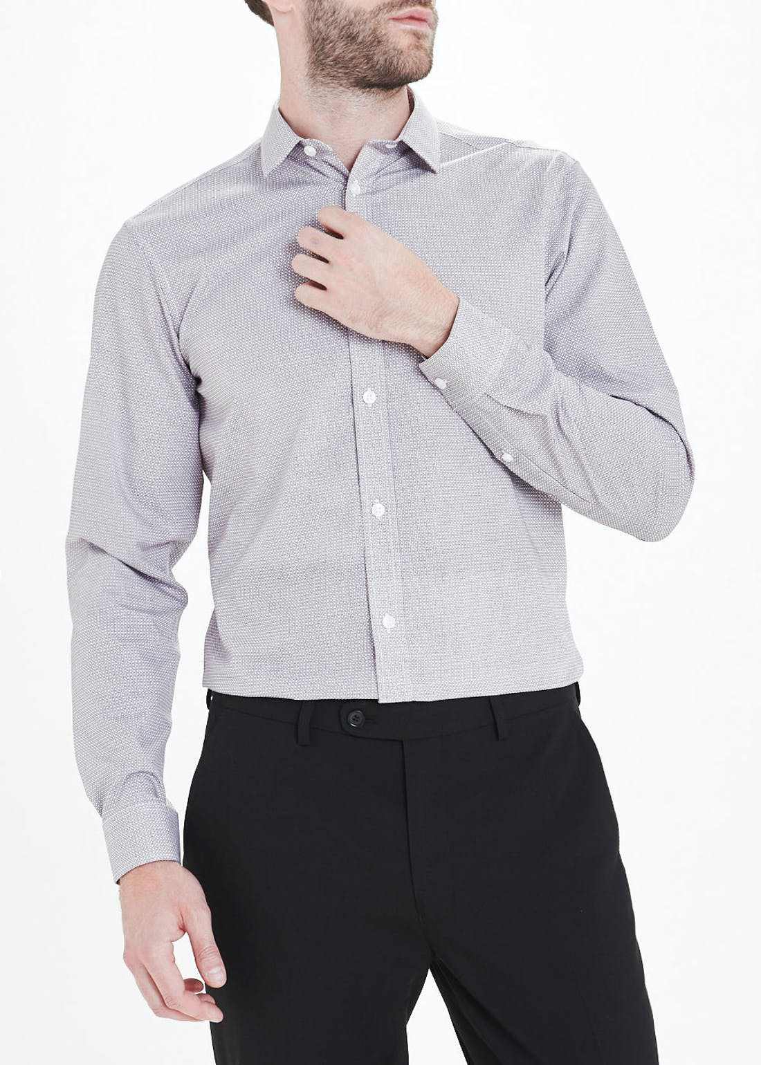 Taylor & Wright Slim Fit Easy Iron Long Sleeve Shirt
