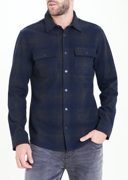 Morley Grey Check Shirt Jacket