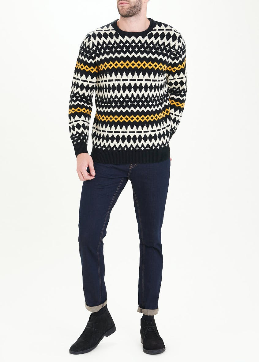 Monochrome Fair Isle Jumper