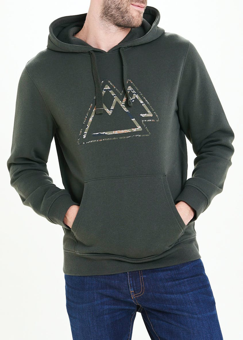 Mountain Print Pull On Hoodie