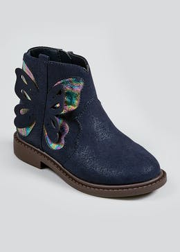 Girls Butterfly Ankle Boots (Younger 4-12)