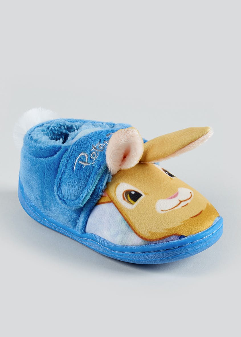 Kids Blue Peter Rabbit Slippers Set (Younger 4-9)