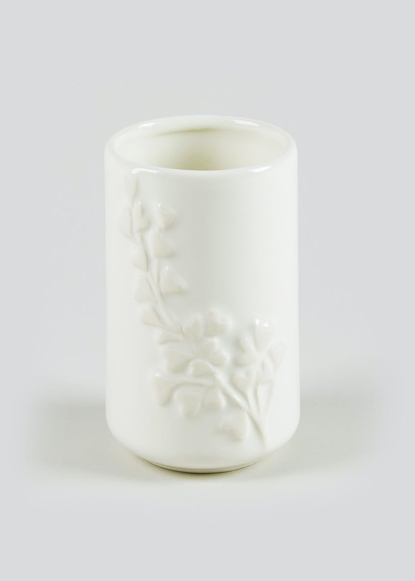 Eden Debossed Flower Bathroom Tumbler