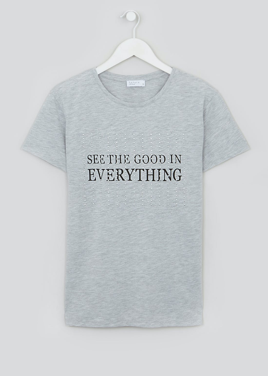 See The Good In Everything Studded Slogan T-Shirt