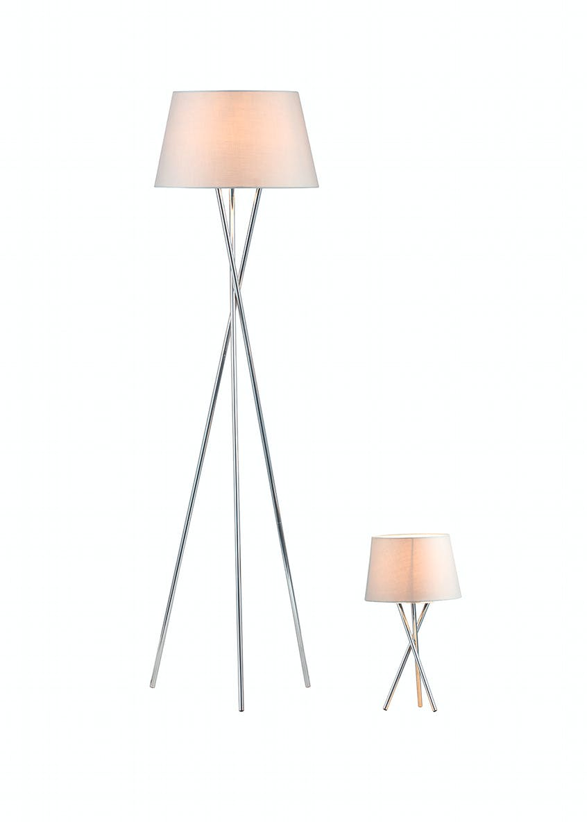 Monroe Tripod Floor & Table Lamp Set