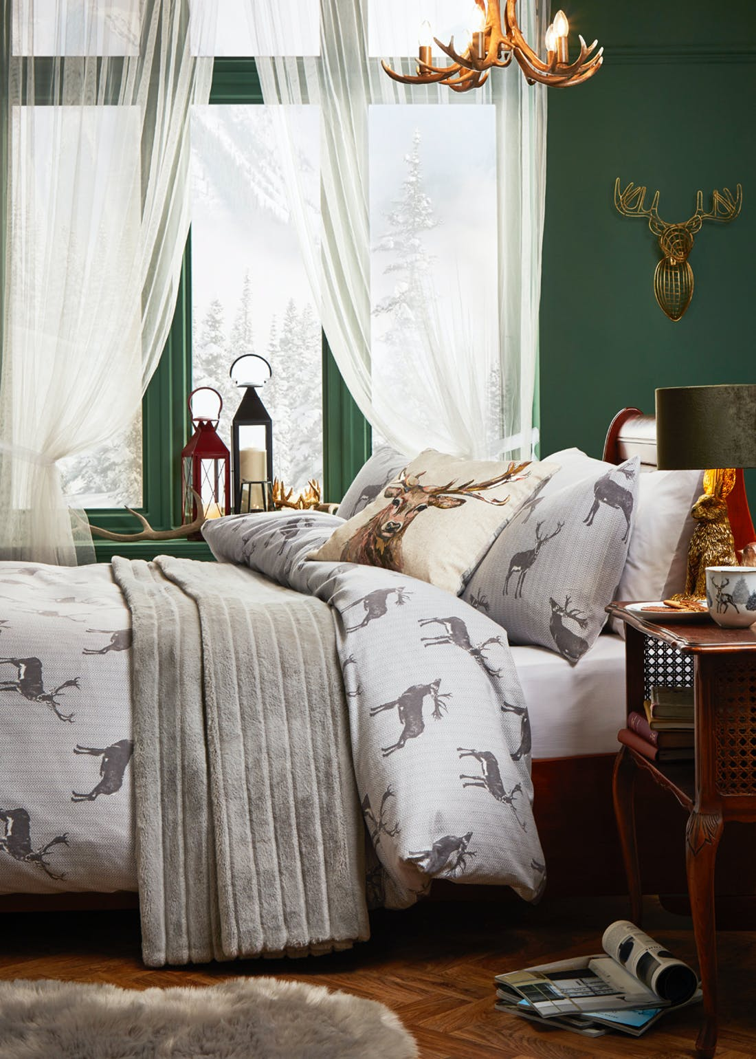 100% Brushed Cotton Stag Duvet Cover