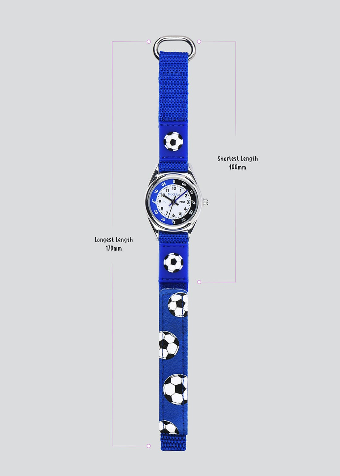 Kids Tikkers Football Riptape Strap Watch