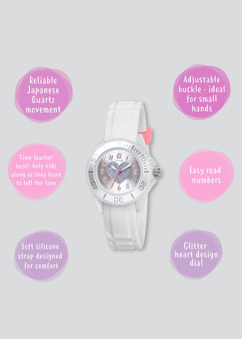 Kids Tikkers Glitter Heart Watch