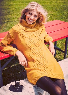 Cable Knitted Jumper Dress