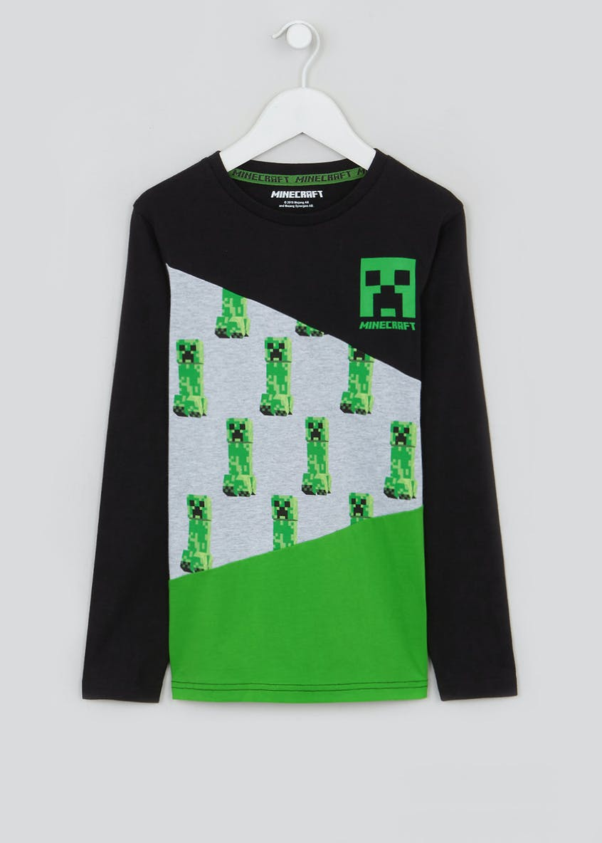 Kids Minecraft Long-Sleeved T-Shirt (6-12yrs)