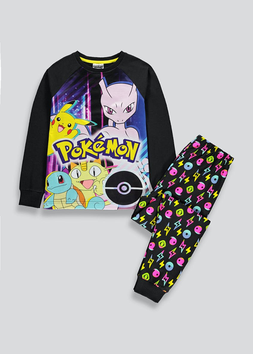 Kids Pokemon Jersey Long Sleeve Pyjamas (5-12yrs)