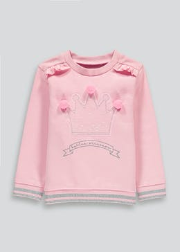 Girls Ballet Princess Pom Pom Jumper (9mths-6yrs)