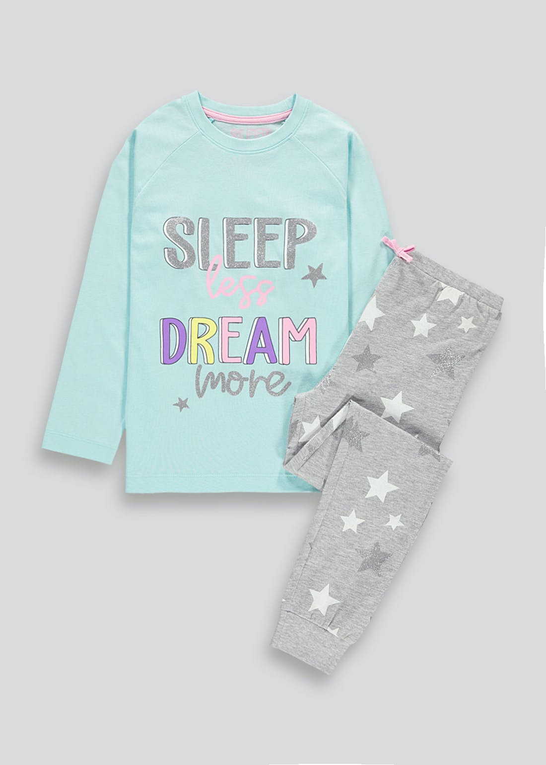 Girls Sleep Less Dream More Pyjama Set (4-13yrs)