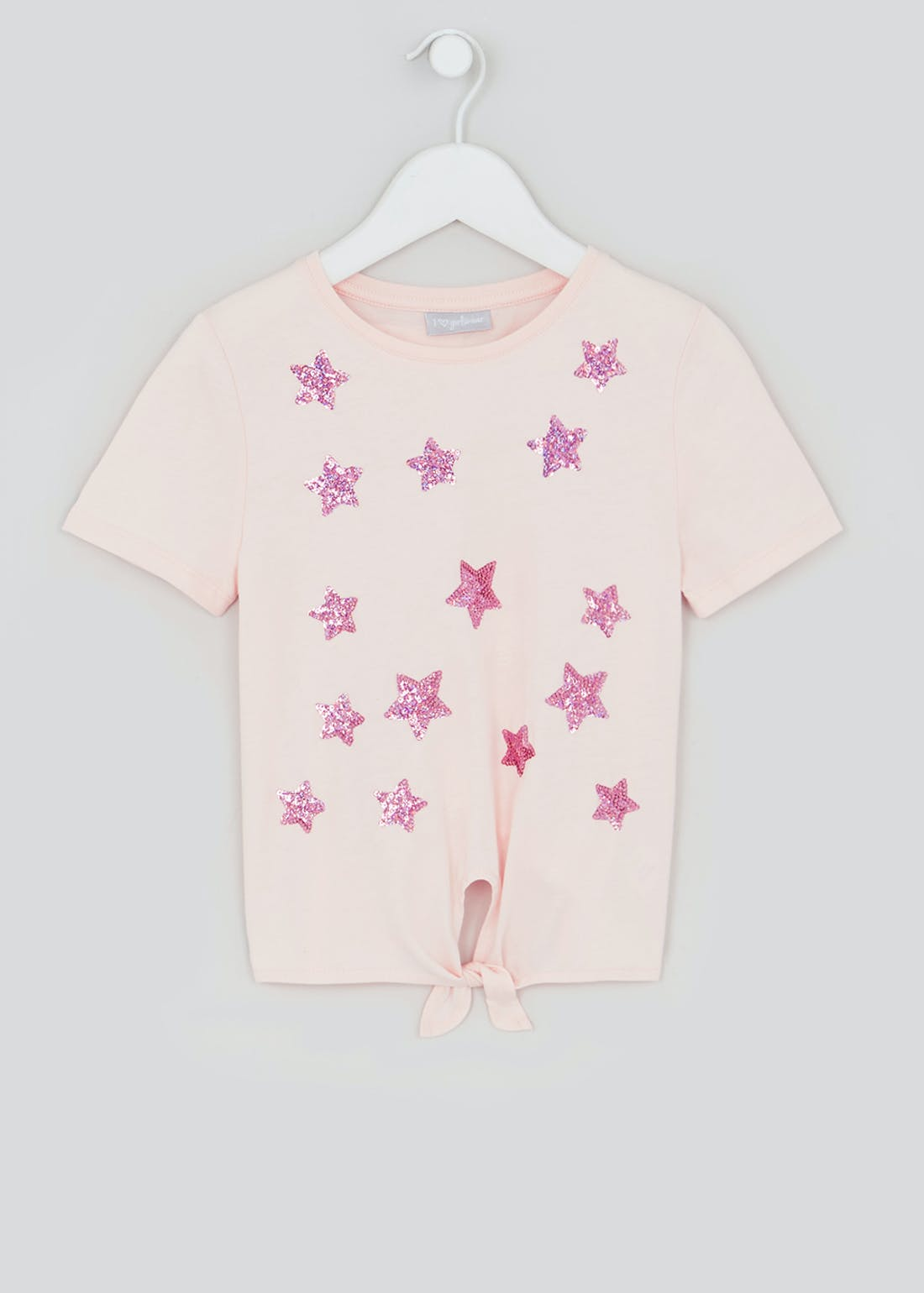 Girls Tie Front Sequin Star T-Shirt (4-13yrs)