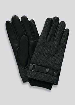Smart Faux Leather Textured Gloves