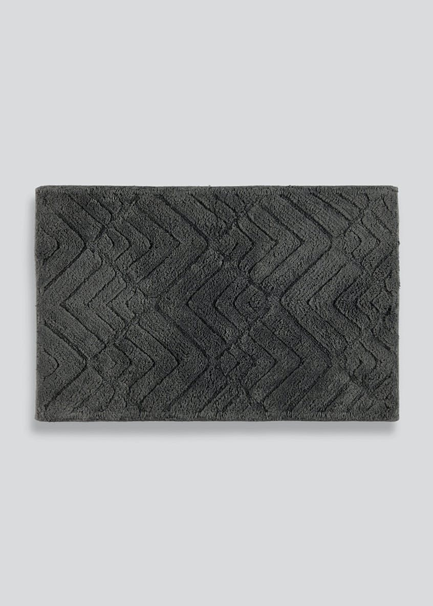 Geometric Embossed Bath Mat (80cm x 50cm)